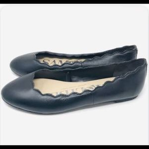 Sam & Libby Black Leather Flats